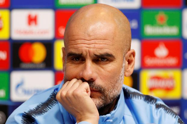 Manchester City manager Pep Guardiola during a press conference. Action Images via Reuters/John Sibley