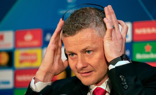 Manchester United manager Ole Gunnar Solskjaer during the press conference at Old Trafford, Manchester. Ian Hodgson/PA Wire