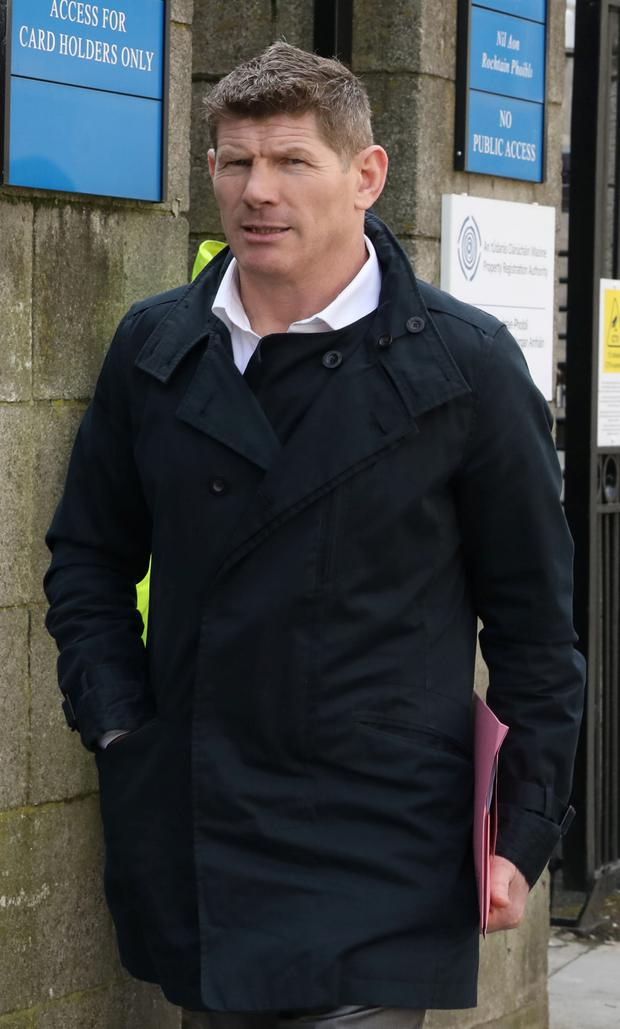 9/4/2019 Former Boxer, Jim Rock pictured leaving the Four Courts after a District Court action for damages.Pic: Collins Courts