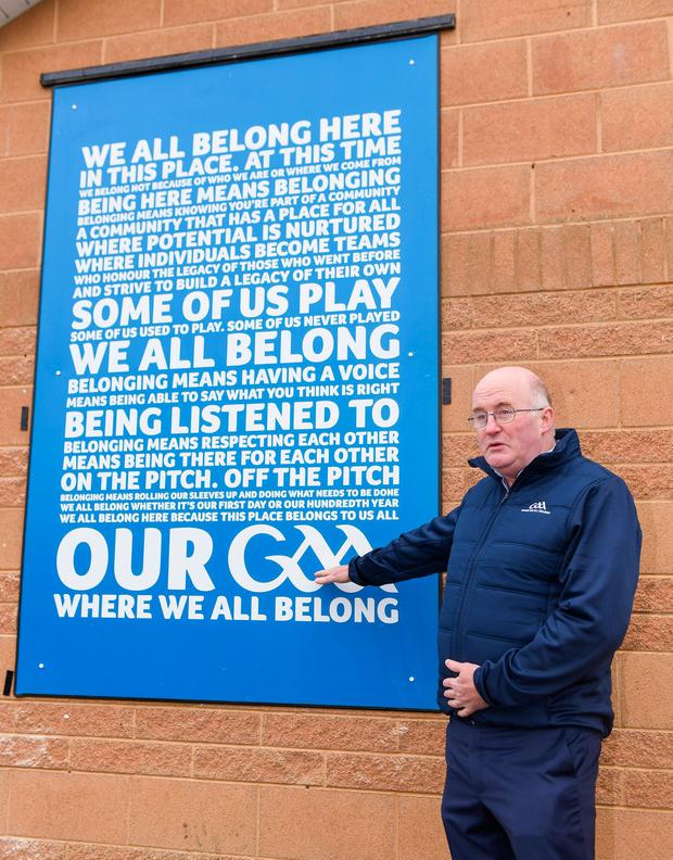 GAA president John Horan at the unveiling of the new GAA manifesto at the St Colmcilles club in Bettystown, Co Meath. Photo: Stephen McCarthy/Sportsfile