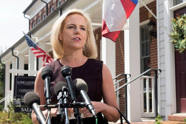 Exit: Kirstjen Nielsen has 'resigned' as Homeland Security Secretary. Photo: AP