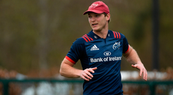 Tyler Bleyendaal during Munster Rugby Squad Training. Photo: Sportsfile