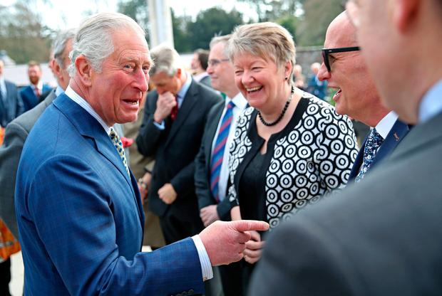 Friendly terms: Prince Charles visits Hillsborough Castle in Northern Ireland yesterday; Queen Elizabeth visited the State in 2011. Photo: Chris Jackson/PA Wire