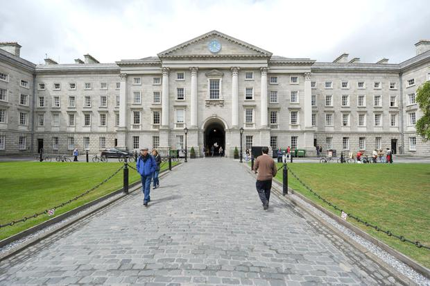 Benefits: The interior courtyard of Trinity College, Dublin. Universities play a central role in our society and economy. Photo: Paul Ellis/AFP/Getty Images