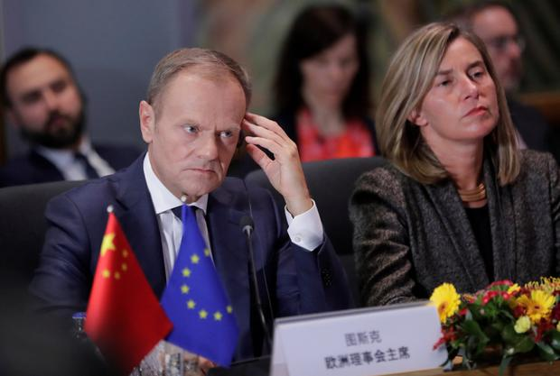 EU Council President Donald Tusk called for mutual respect. Photo: REUTERS