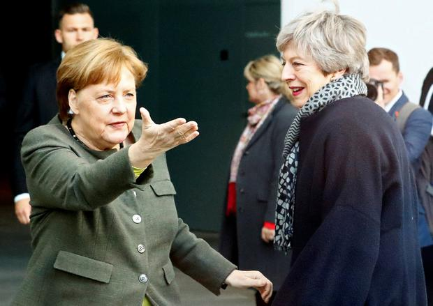 Points of view: German Chancellor Angela Merkel is believed to differ from France's Emmanuel Macron on the Brexit delay. Photo: REUTERS/Fabrizio Bensch