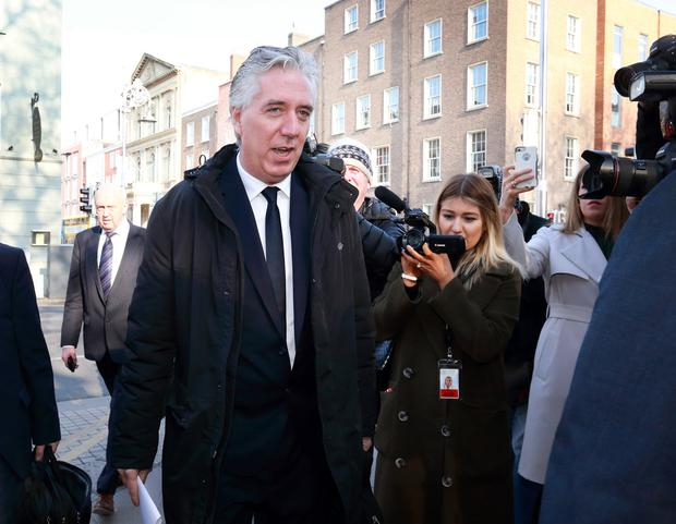 John Delaney pictured as he arrived at Leinster House. (Photo: Frank McGrath)