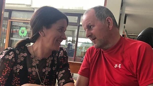 Sean Cox with wife Martina, who has spoken about the impact the assault has had on the family's life (family handout/PA)