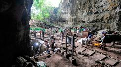 Key site: Callao Cave on Luzon island in the Philippines, where fossils of Homo luzonensis were found. Photo: AFP/Getty Images