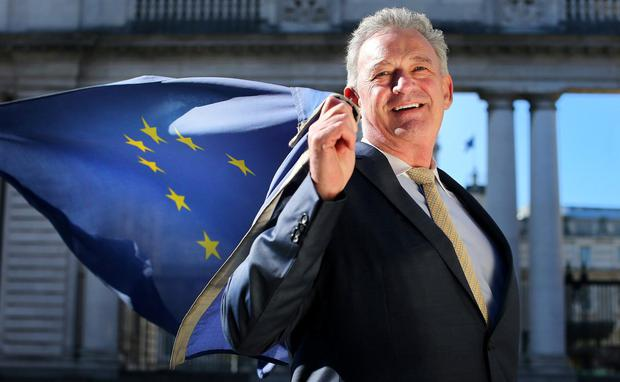 Dragon flies flag: Peter Casey will run for a seat in the European Parliament. Photo: David Conachy