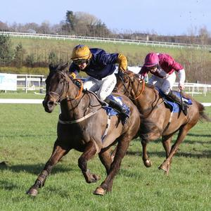 FOLLOW ME WEST: West Is Best and Danny Mullins winning at Limerick last month. Photo: Alain Barr