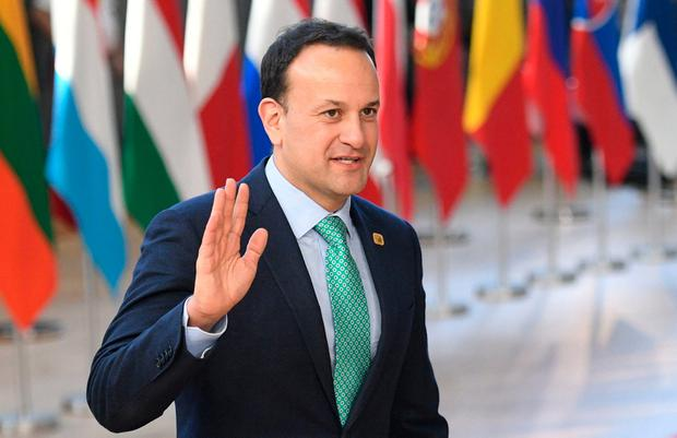 Taoiseach Leo Varadkar arrives at the European Council in Brussels. Photo: PA