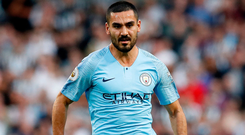 Manchester City's Ilkay Gundogan. Photo: Martin Rickett/PA Wire