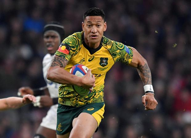 Israel Folau. Photo: REUTERS/Toby Melville