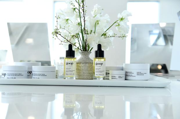 A view of goop skincare products on display in The Goop Shop during the In goop Health Summit New York 2019 at Seaport District NYC on March 09, 2019 in New York City. (Photo by Ilya S. Savenok/Getty Images for goop)