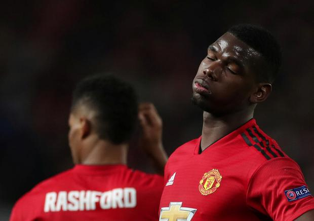 Manchester United's Paul Pogba reacts. Action Images via Reuters/Lee Smith