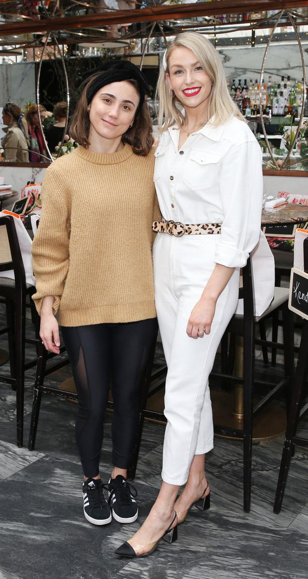 Gigi Tynan and Lia Stokes at the launch of the new Avène Expert Suncare Range in The Grayson Dublin. Picture: Leon Farrell/Photocall Ireland