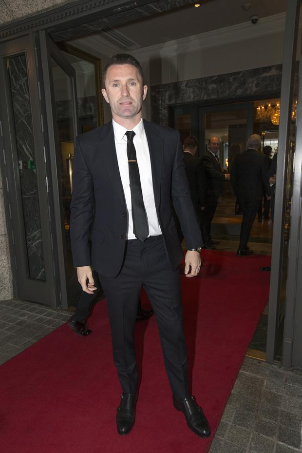 Former Republic of Ireland and Liverpool player Robbie Keane arriving The Intercontinental Hotel in Ballsbridge for the Liverpool Legends dinner and auction in aid of injured Liverpool supporter, Sean Cox. Photo: Tony Gavin 11/4/2019