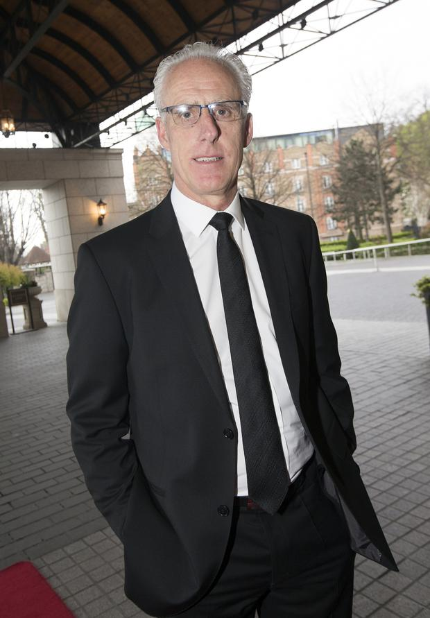 Republic of Ireland manager Mick McCarthy arriving The Intercontinental Hotel in Ballsbridge for the Liverpool Legends dinner and auction in aid of injured Liverpool supporter, Sean Cox. Photo: Tony Gavin 11/4/2019
