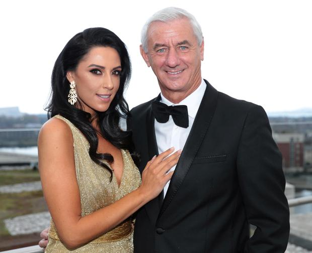 Carol Anthony and her fiancee Ian Rush in Dublin for the Sean Cox Gala Fundraiser . Pic Brian McEvoy