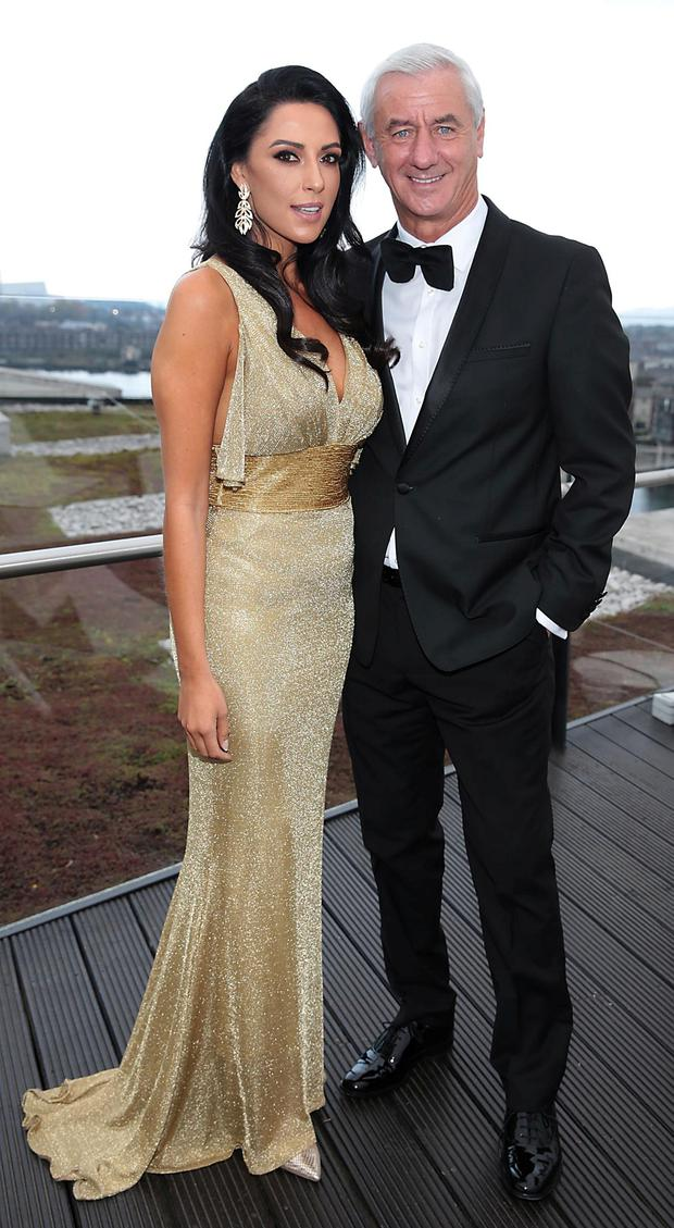 Carol Anthony and her fiancé Ian Rush in Dublin for the Sean Cox Gala Fundraiser. Picture: Brian McEvoy