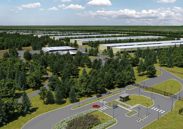 Vision: An artist's impression of the proposed Apple data centre planned for Athenry, Co Galway