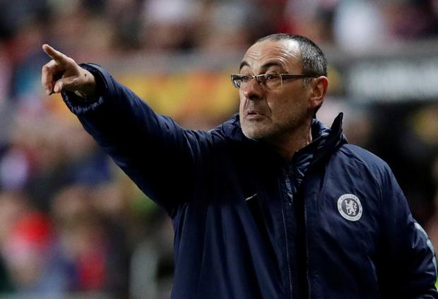 Chelsea manager Maurizio Sarri. Photo: David W Cerny/Reuters