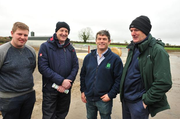 On Farm were Joe Metcalfe, James Mc Donald, Peter Young , Tom Fallon. Photo Roger Jones.
