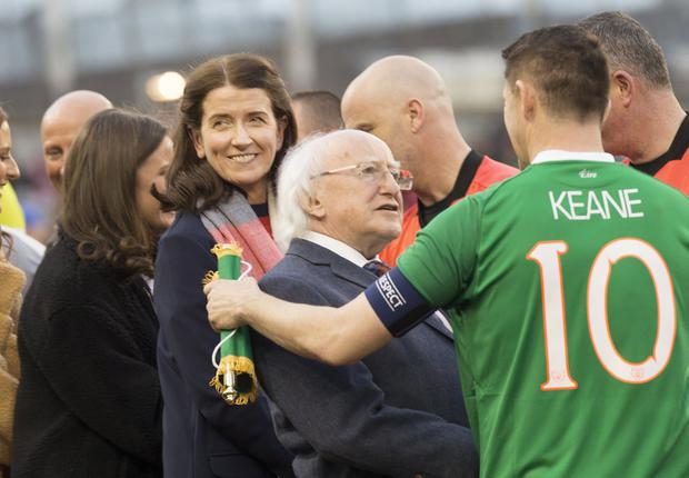Martina Fox before the Republic of Ireland X1 v Liverpool FC Legends match in the Aviva stadium in aid of injured Liverpool supporter, Sean Cox. Photo: Tony Gavin 12/4/2019