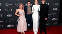 Maisie Williams, Kit Harington, Sophie Turner, and Isaac Hempstead Wright attending the Game of Thrones Premiere, held at Waterfront Hall, Belfast. Friday April 12, 2019. Liam McBurney/PA Wire