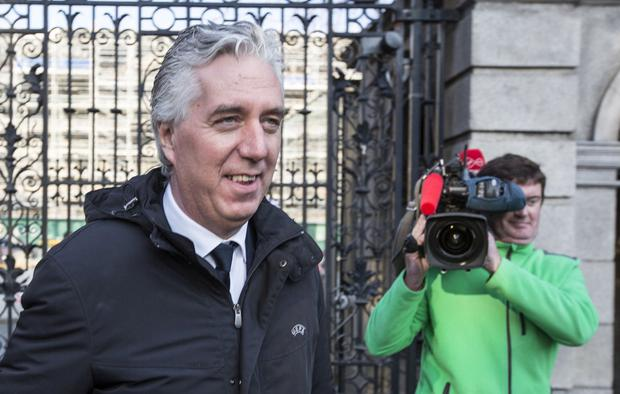 John Delaney leaves Leinster House after the PAC hearing. Photo: Colin O'Riordan