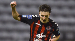 A Daniel Grant goal secured the points for Bohemians. Photo: David Fitzgerald/Sportsfile