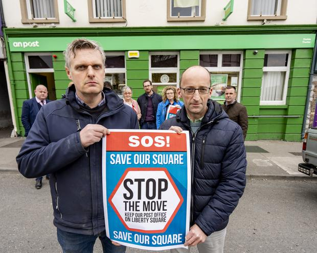 Anger: Jim Ryan of Stop The Move – Save Our Square action group and John Butler, president of Thurles Chamber of Commerce. Picture: Don Moloney