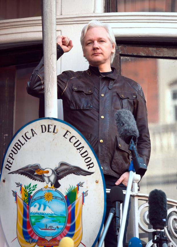 Digging out the truth: Julian Assange was given asylum in the Ecuadorian embassy in London. Photo: Lauren Hurley/PA Wire