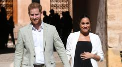 FITTING IN: Harry and Meghan are said to be planning a home birth for their first child, and will do their best to avoid the press. Picture: Reuters