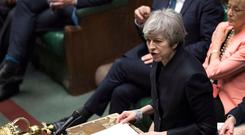 NO END IN SIGHT: British PM Theresa May last week. Further Brexit turmoil seems likely and a no-deal exit remains a distinct possibility. Photo: Jessica Taylor/AFP/Getty Images