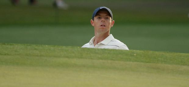 Rory McIlroy has struggled to get into contention at the 2019 Masters. (AP Photo/Chris Carlson)