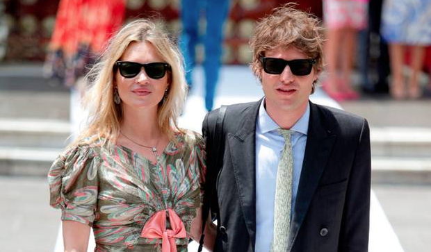 Supermodel Kate Moss (left) and her boyfriend Count Nikolai Von Bismarck (right) arrive to the wedding of Prince Christian of Hanover and Alessandra de Osma at Basilica San Pedro on March 16, 2018 in Lima, Peru. (Photo by Raul Sifuentes/Getty Images)