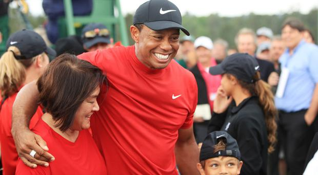WATCH: 'It's overwhelming' - Tiger Woods comes full circle as he celebrates 15th major win with his children