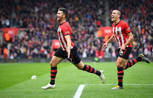 DOUBLE: Shane Long. Photo: REUTERS
