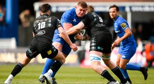 INJURY WORRY: Tadhg Furlong in action for Leinster during the Guinness PRO14 match against Glasgow Warriors at the RDS Arena. Photo: Stephen McCarthy/Sportsfile