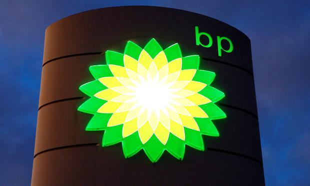 The logo of BP (British Petroleum) is seen at a petrol station in Kloten, Switzerland. Photo: REUTERS