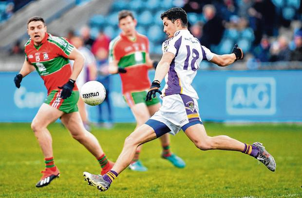 Rory O'Carroll in action for Kilmacud Crokes against Ballymun Kickhams at Parnell Park. Photo: Ramsey Cardy/Sportsfile