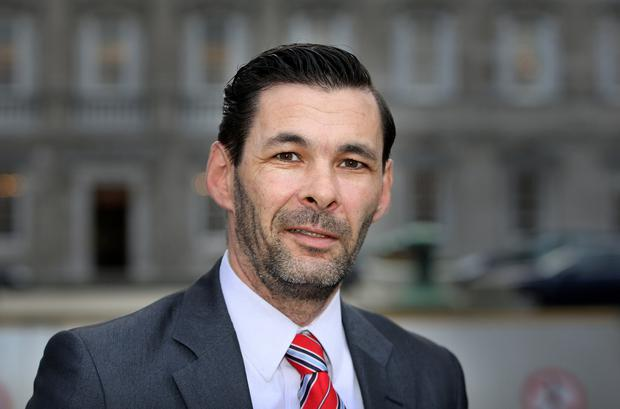 Blameless: Sinn Féin TD Jonathan O'Brien was thrown out of Turners Cross
