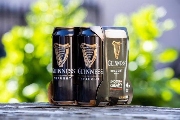Guinness packs will be 100pc biodegradable and recyclable