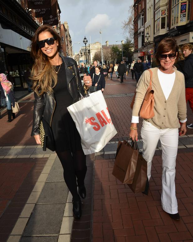 Vogue Williams with her mother Sandra Wilson in Dublin in 2012