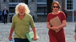 Independent TDs Clare Daly and Mick Wallace. Photo: Collins