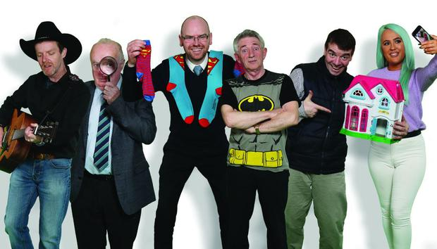 The Borrowers, RTE One. (LtoR) Michael, Thomas, Maurice, Derry, Kevin and Noranne.