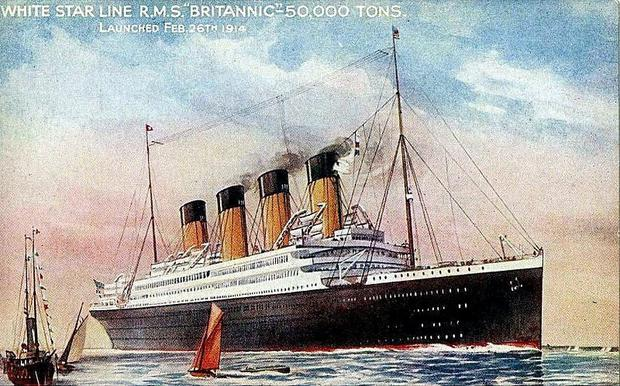 The Titanic's sister ship, RMS Britannic