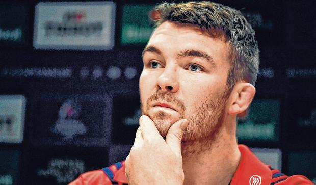 Ready for action: Munster captain Peter O'Mahony in reflective mood yesterday. Photo: Brendan Moran/Sportsfile